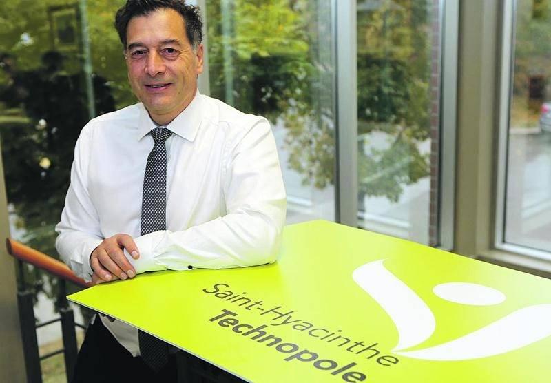 Le directeur de Saint-Hyacinthe Technopole, André Barnabé. Photo Robert Gosselin | Le Courrier ©