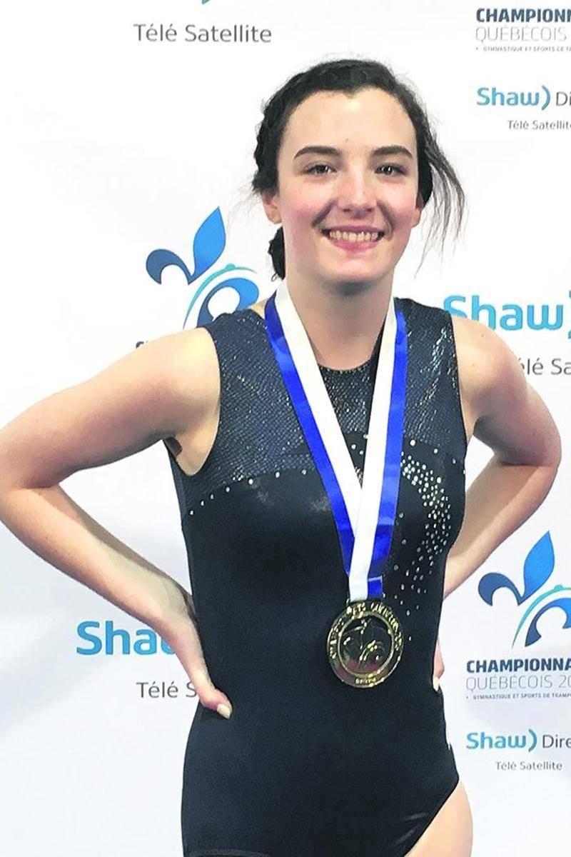 Marianne Danella a été particulièrement efficace en tumbling, lui permettant d'être sacrée championne québécoise en classe provincial 4.Photo Courtoisie