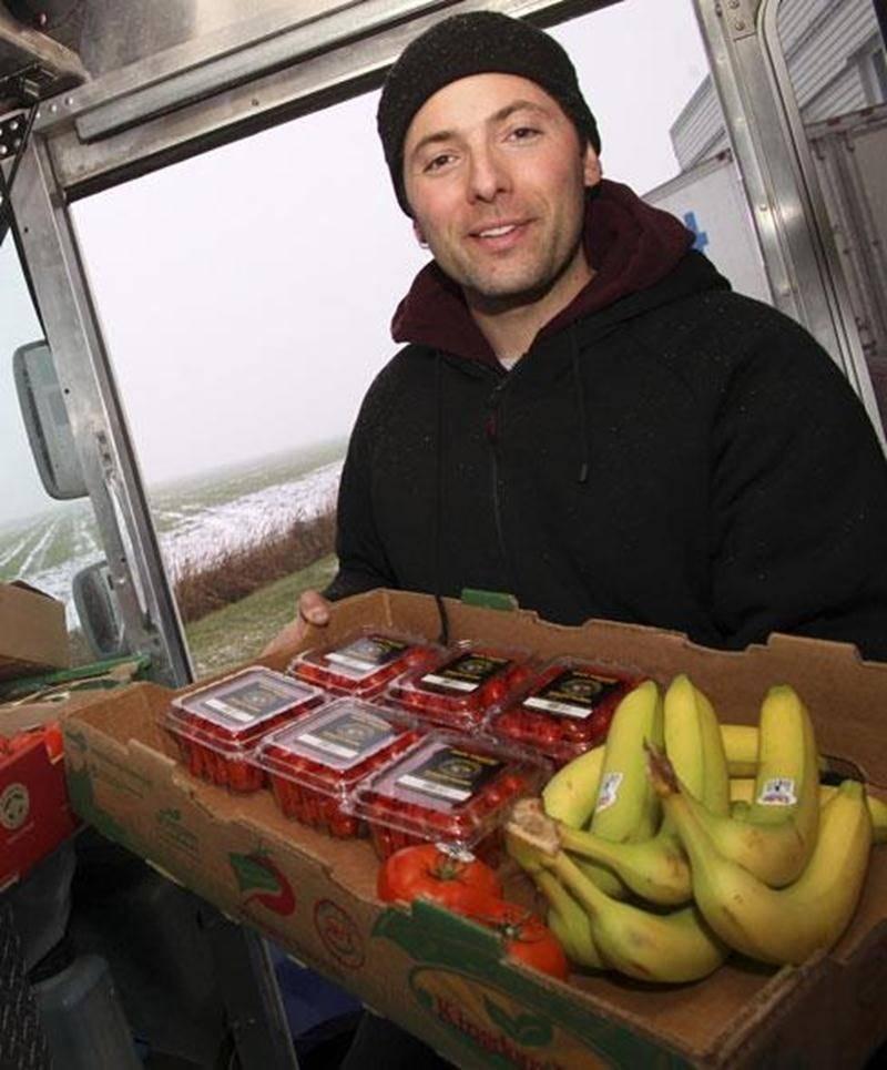 Frédéric Bergon de l'entreprise Fruit-O-Mobile