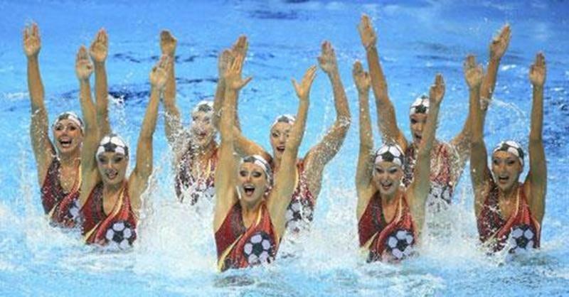 L'équipe canadienne de nage synchronisée en a mis plein la vue lors de son programme libre, le 10 août, aux Jeux olympiques de Londres.
