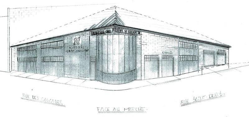 Marcel McDermott a couché sur papier l'idée d'un stationnement couvert où la Ville pourrait tenir un kiosque d'information pour les visiteurs, au centre-ville. Photo François Larivière   Le Courrier ©