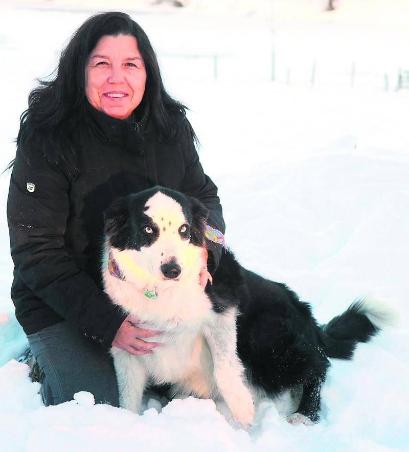 Bandit a donné des sueurs froides à sa maîtresse, Jacqueline Daraîche, lorsqu'il est tombé dans la rivière Yamaska. Photo Robert Gosselin | Le Courrier ©