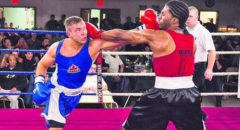Richard Horth a été élu meilleur boxeur de la soirée. Il a remporté son combat face à Steeven Carasco par K.O. technique. Photo Courtoisie Jean Rouleau