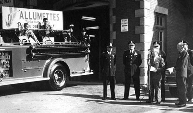 Semaine de prévention contre l'incendie, Saint-Hyacinthe, octobre 1961. Archives CHSH