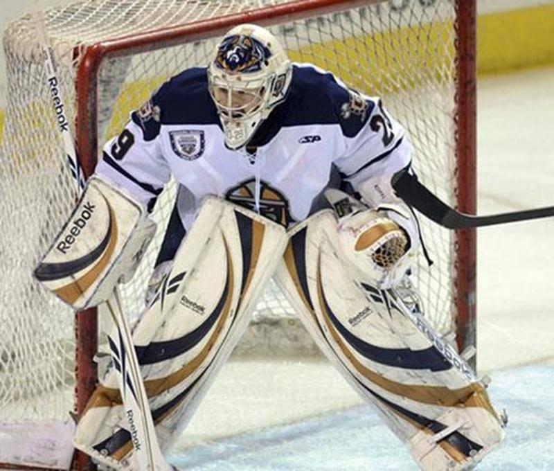 Nicola Riopel a déjà remporté huit victoires en seulement neuf départs avec les Road Warriors de Greenville, dans le ECHL.