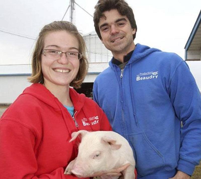 Cindy et Billy Beaudry, de la Ferme Beau-Porc à Saint-Valérien-de-Milton.