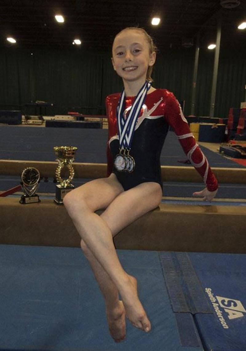 Charlotte Chagnon a volé la vedette aux qualifications provinciales de gymnastique artistique, avec des médailles à la poutre et au sol.