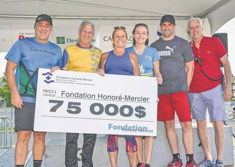 Le Tour de la Montagne Desjardins a permis d'amasser 75 000 $ pour la Fondation de l'hôpital Honoré-Mercier, à Saint-Hyacinthe.