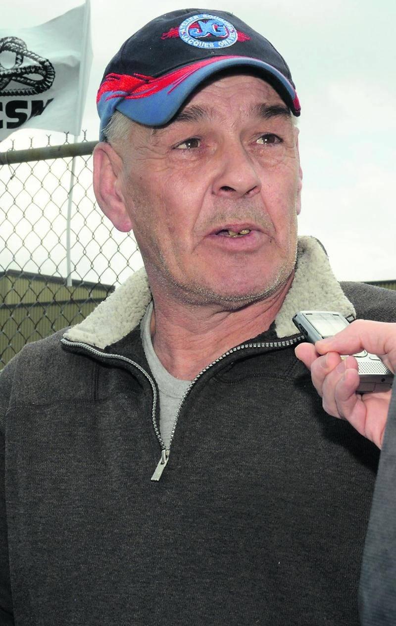 Roland Piché, président du Syndicat des salariés de Barry Callebaut Canada (usine de Saint-Hyacinthe).  Photo François Larivière | Le Courrier ©