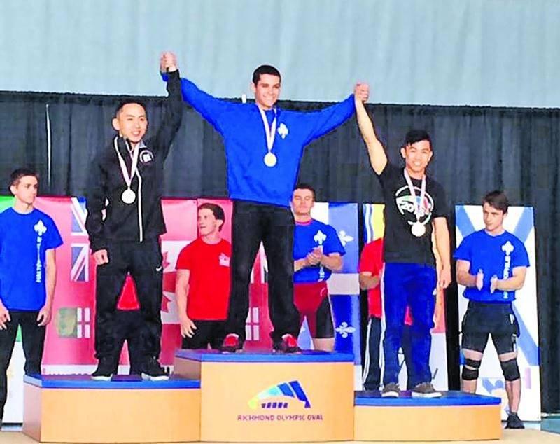Matt Darsigny a remporté à 14 ans le championnat canadien senior chez les 56 kg, du jamais vu. Photo Facebook
