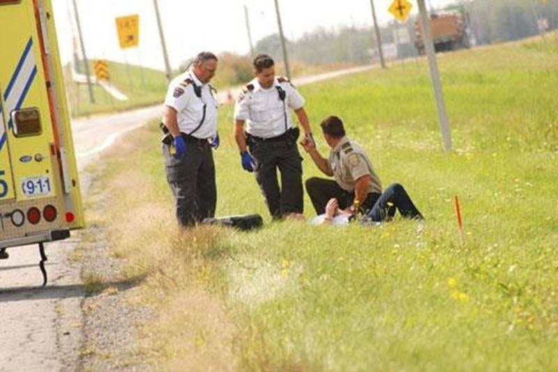 Une dame de 43 ans a été maîtrisée après une poursuite de plusieurs minutes sur l'autoroute 20, entre Saint-Nazaire-d'Acton et Upton.