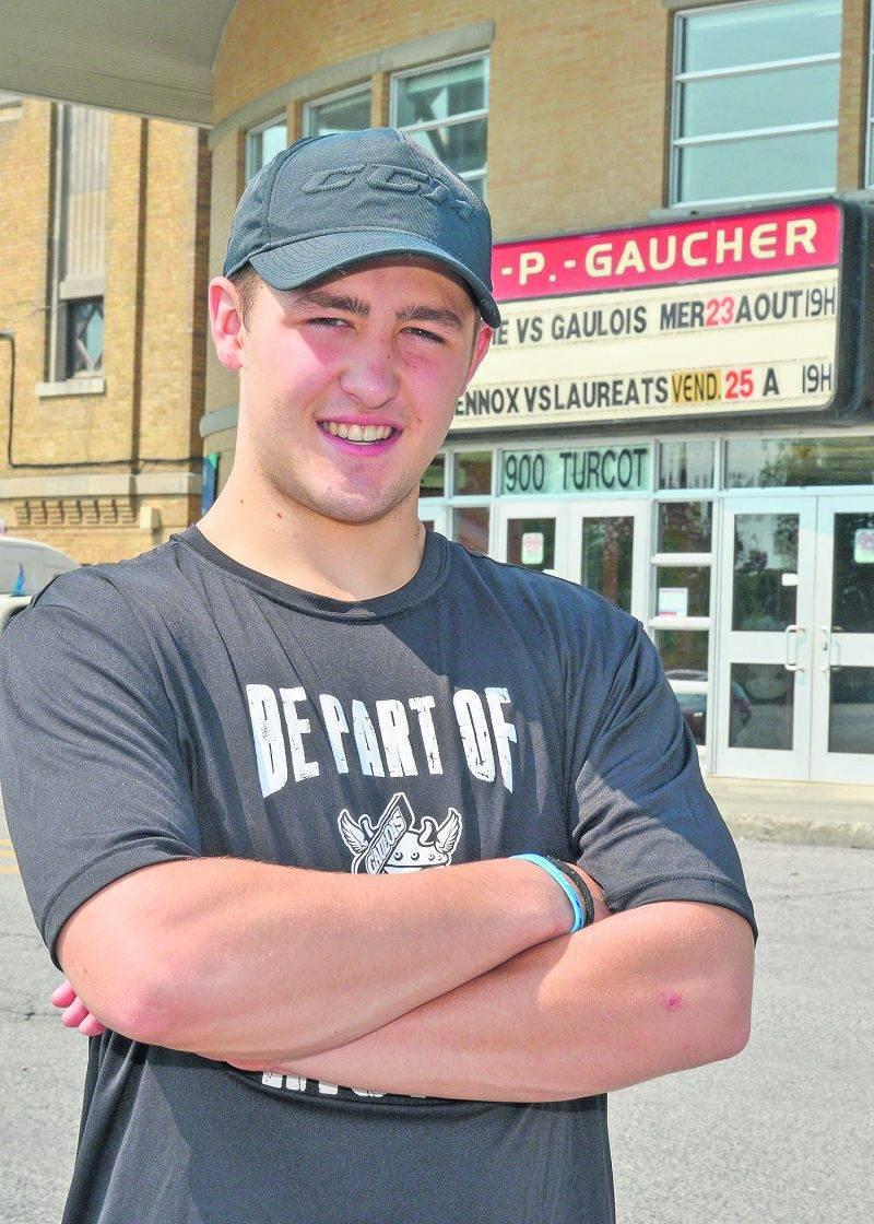 Elliot Desnoyers, à 15 ans, disputera sa deuxième saison avec les Gaulois de Saint-Hyacinthe dans la ligue de hockey midget AAA.  Photo François Larivière | Le Courrier ©