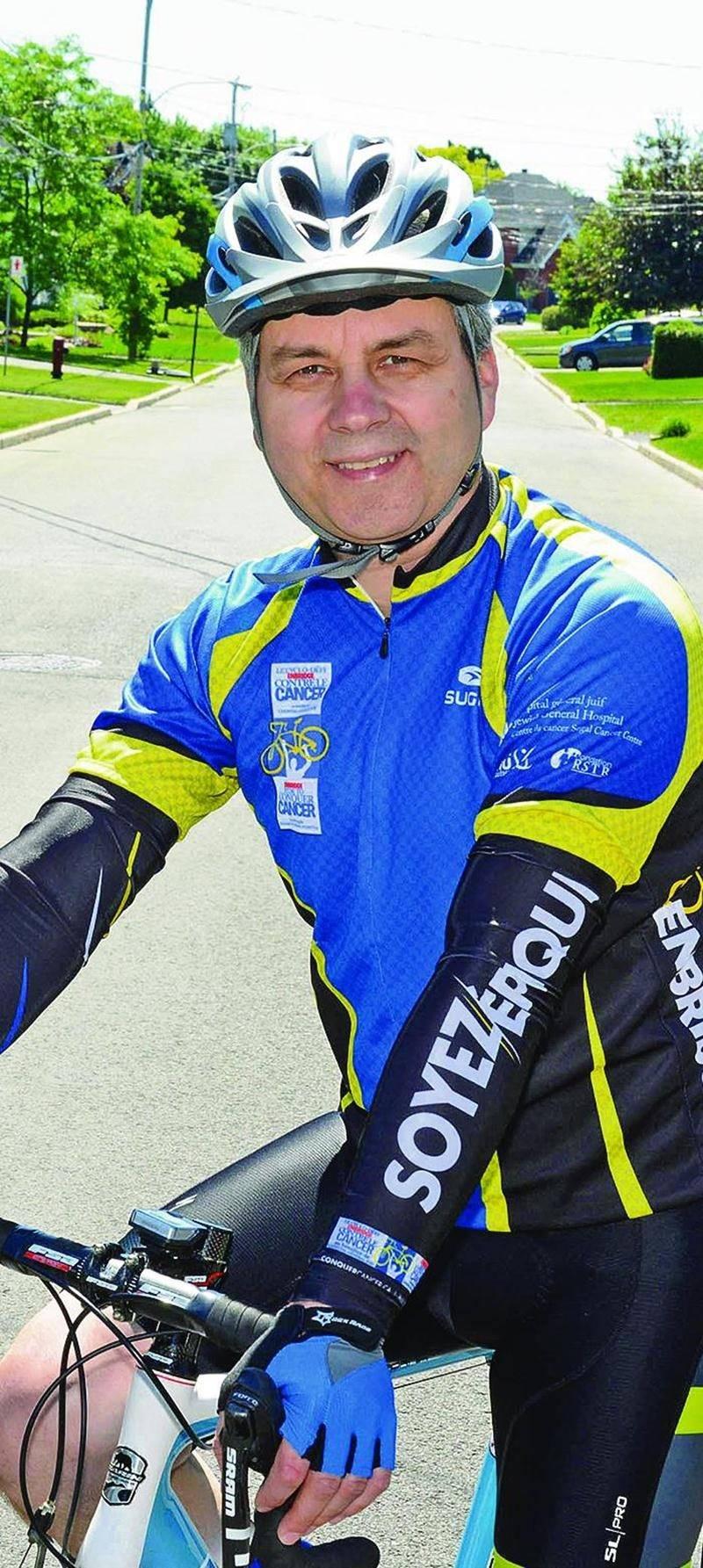 Mario Séguin enfourchera son vélo les 9 et 10 juillet lors du Cyclo-défi Enbridge contre le cancer. Photo François Larivière | Le Courrier ©