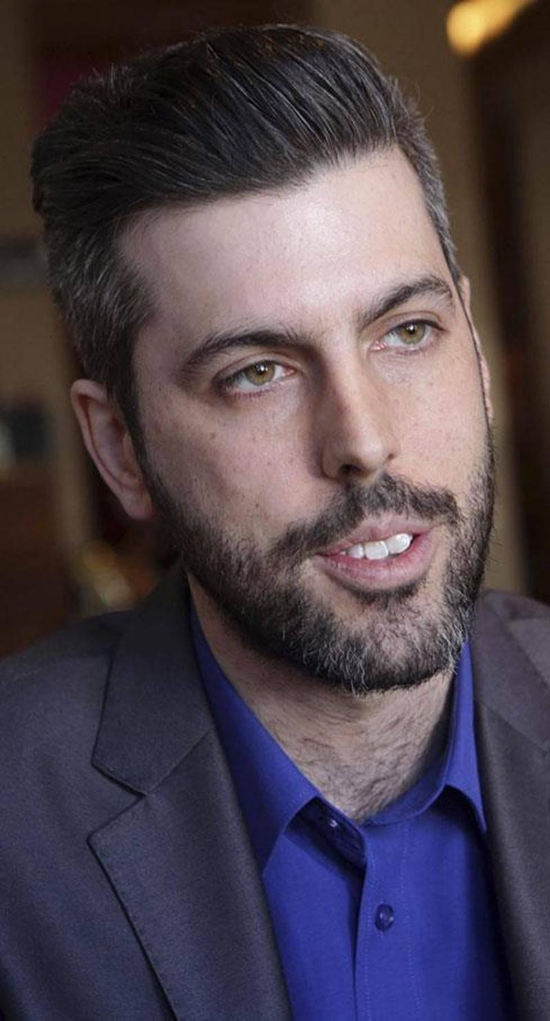 Éric Pothier, candidat d'Option nationale pour le comté de Saint-Hyacinthe.
