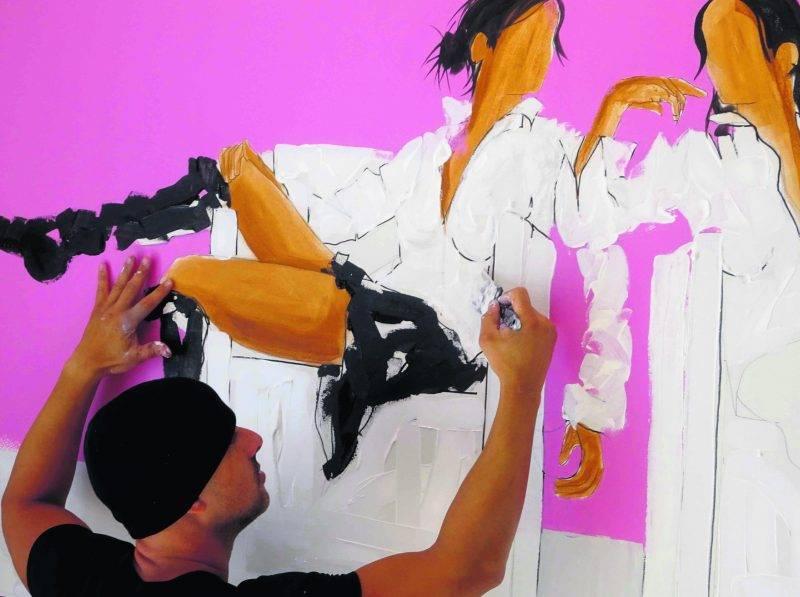 «En choisissant les galeries dans lesquelles sont exposés mes tableaux, j'ai davantage le temps pour travailler mes techniques», Vincent Cordeau.