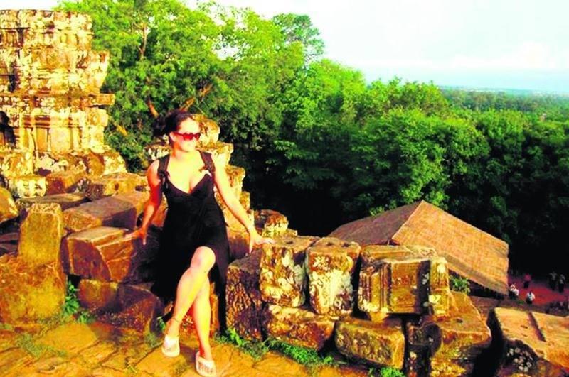 La Maskoutaine Alexandra Côté a passé 10 jours au Cambodge lors d'un périple de deux mois en Asie.Photo courtoisie