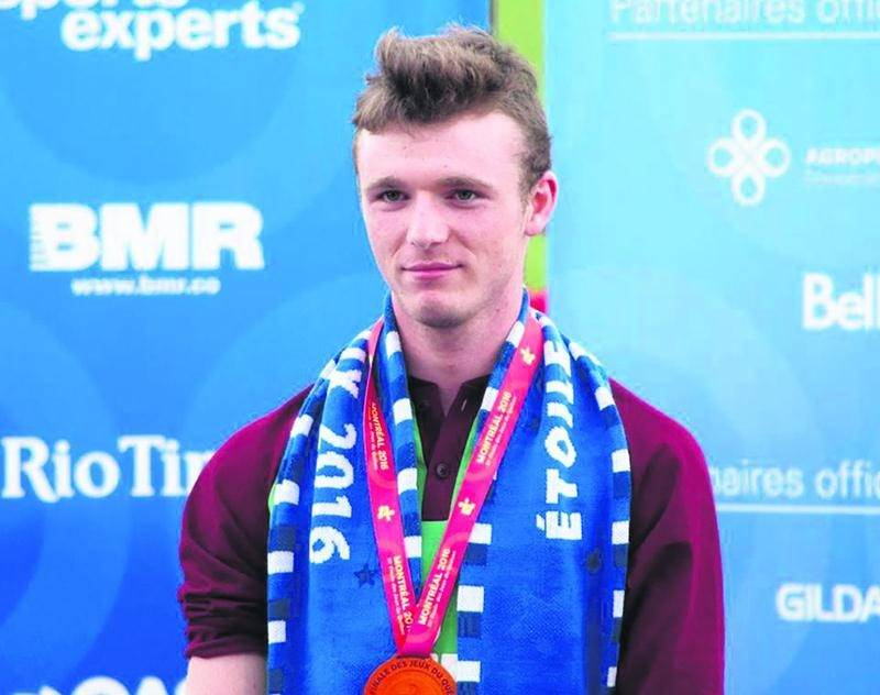 Samuel Carmel (Saint-Denis-sur-Richelieu) a remporté deux médailles de bronze en athlétisme pour Richelieu-Yamaska. Photo Courtoisie Jean Bélanger