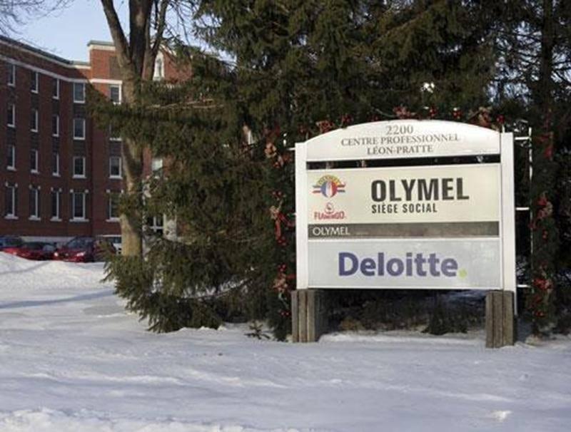 Le siège social d'Olymel sur l'avenue Pratte à Saint-Hyacinthe.