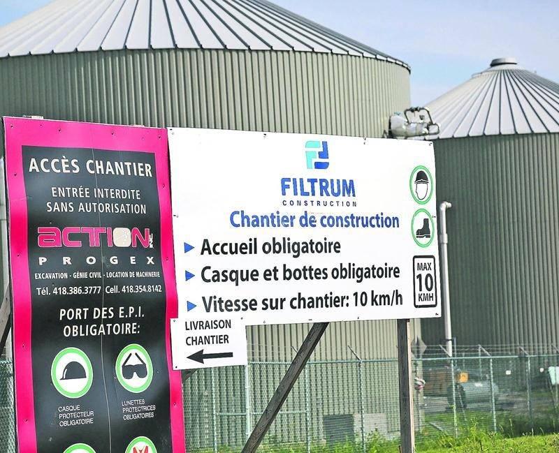 Avec ses deux contrats obtenus de la Ville de Saint-Hyacinthe, Filtrum Construction a raflé près de la moitié du budget de 85 M$ alloué au projet de biométhanisation. Photo Robert Gosselin | Le Courrier ©