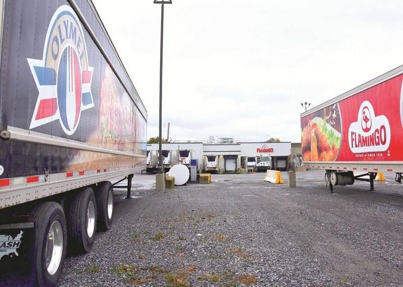 Un mandat de grève a été voté par les employés de l'usine de transformation de volaille Olymel/Flamingo située dans le district de Sainte-Rosalie. Photothèque | Le Courrier ©
