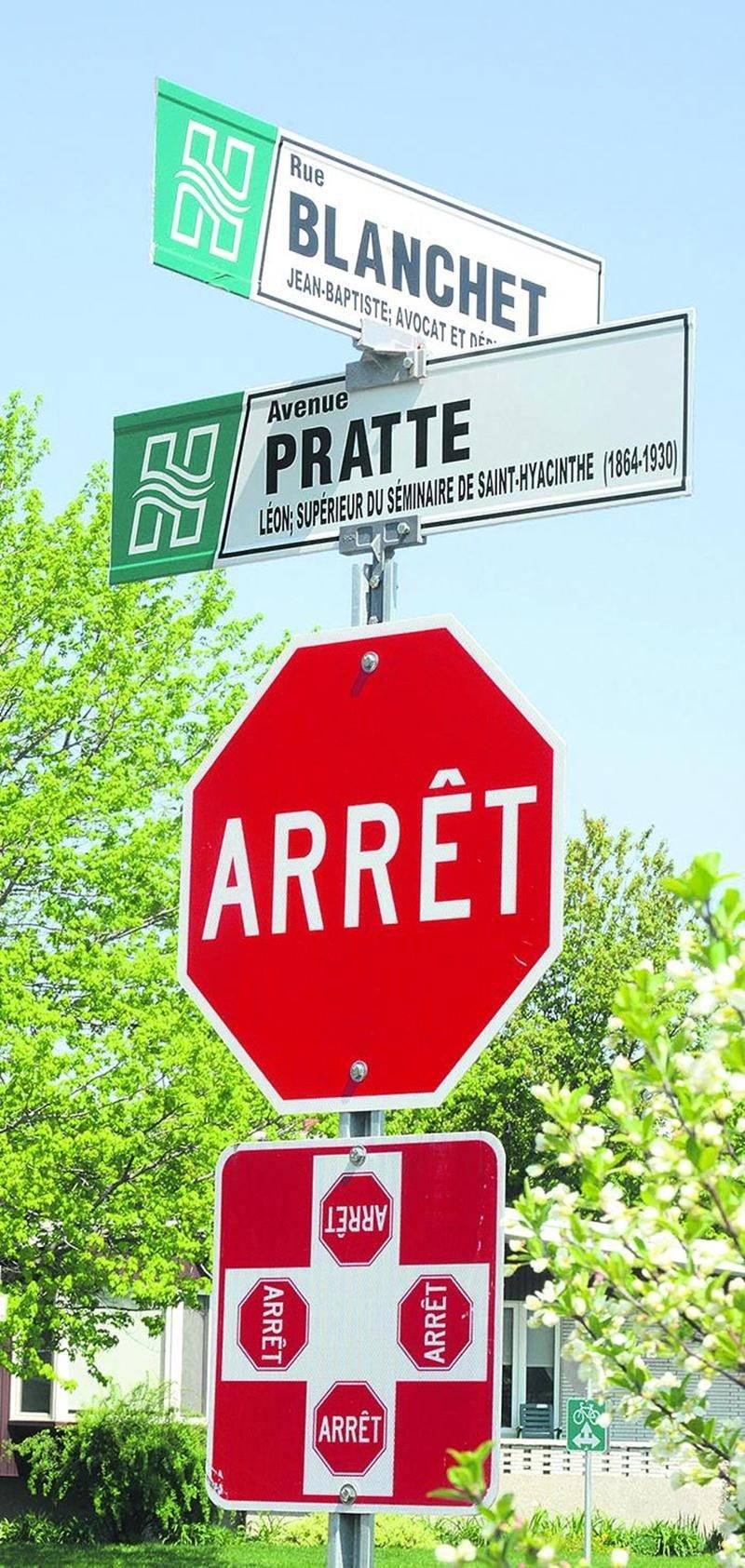 La Ville de Saint-Hyacinthe maintient finalement la décision qu'elle avait prise il y a deux ans de nommer « Blanchet » le nouveau tronçon de rue qui donne accès au site de l'Exposition agricole dans l'axe de la rue Millet, du côté est du site. Des panneaux « rue Blanchet » sont apparus de nouveau il y a quelques jours aux intersections de l'avenue Pratte et de l'avenue Pagé, là où ils avaient vite disparus à l'été 2014, après les protestations de la Société d'agriculture. Ses dirigeants trouvai