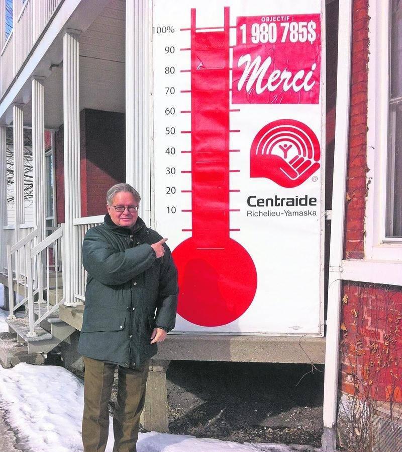 Daniel Laplante, directeur général de Centraide Richelieu-Yamaska, tient à souligner le bon travail de l'équipe de Centraide et des bénévoles dans les milieux de travail et remercie sincèrement tous les donateurs pour la somme de 1 963 633 $ amassée dans le cadre de la campagne de financement 2015.