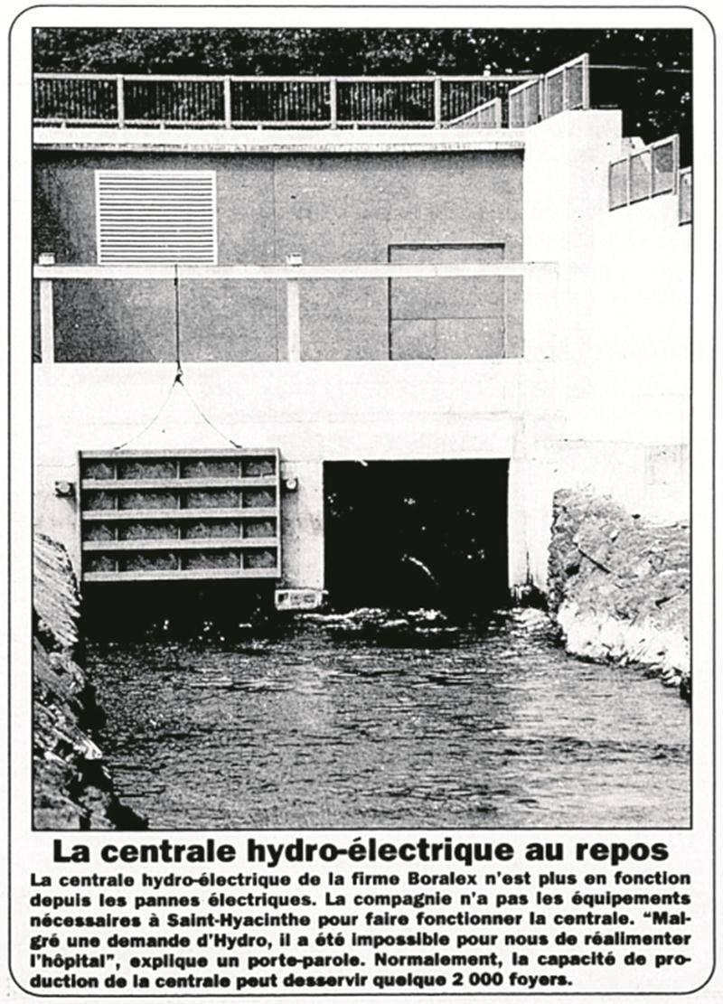 Extrait de l'une des éditions spéciales gratuites produites par LE COURRIER pendant la crise du verglas de 1998. Archives | Le Courrier ©