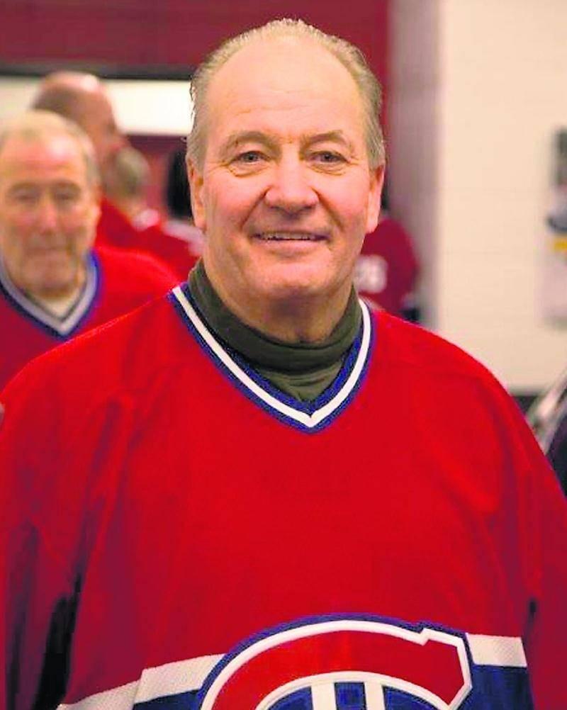 Richard Lamoureux, portant fièrement le gilet du Canadien de Montréal. Photo Courtoisie