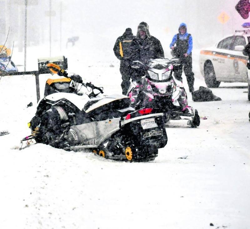 Une motoneigiste de Saint-Hyacinthe est décédée dans un accident impliquant une voiture.  Photo Éric Beaupré