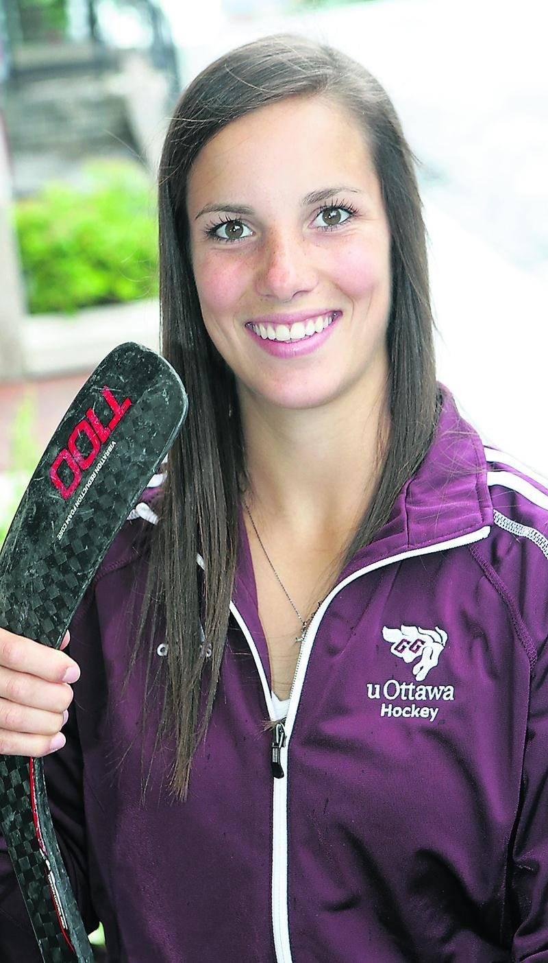 Laurence Morissette s'alignera avec les Gee-Gees de l'Université d'Ottawa au cours de la prochaine saison de hockey. Photo Robert Gosselin | Le Courrier ©