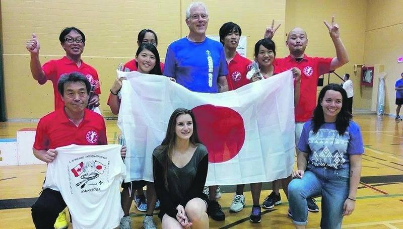 Le club nawatobi d'Upton a terminé sa saison lors d'une compétition amicale internationale réunissant notamment des athlètes venus du Japon. Photo Courtoisie