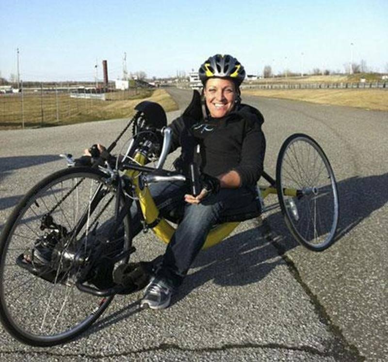 Jani Barré espère participer aux Jeux du Québec l'été prochain sur un nouveau vélo.