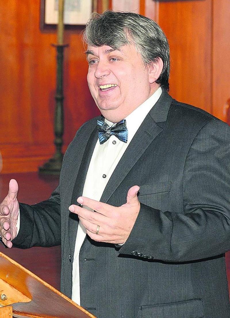 Marc Bouchard, un chroniqueur passionné et un conférencier généreux. Photo François Larivière   Le Courrier ©