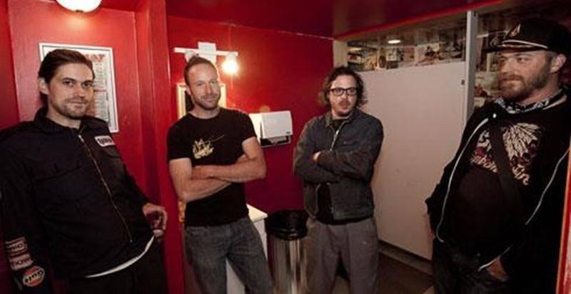 Les membres du groupe Les Crack Kills, soient Maxime Bouliane, Christian Boileau, Étienne Ménard, Frédérick Michon et, absent de cette photo, Francis Landreville.