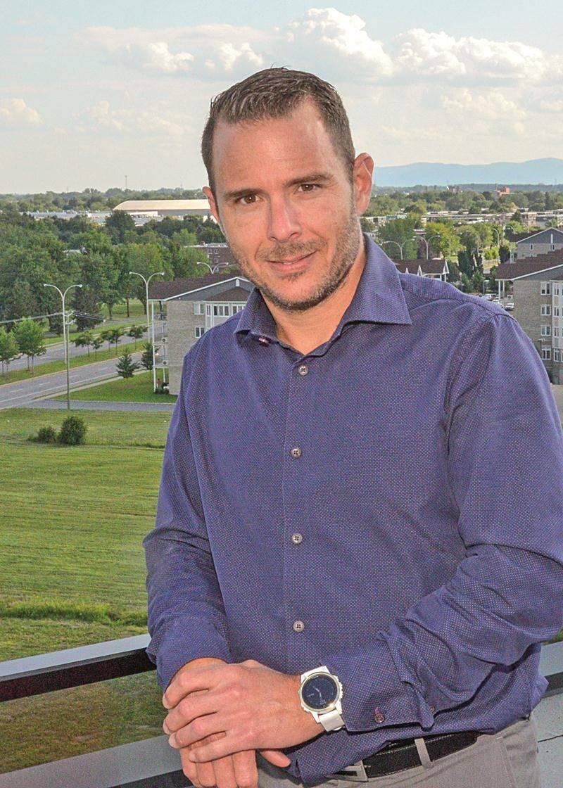 Jonathan Robin, coprésident du Groupe Robin, promoteur du Complexe Synergia.  Photo François Larivière | Le Courrier ©