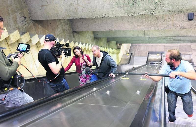 Mylène St-Sauveur interprète le personnage d'Isabelle aux côtés d'Alexandre Goyette dans King Dave. Un défi de synchronisation s'imposait au tournage quand le personnage de Dave s'adressait à la caméra. Photo Yan Turcotte ©