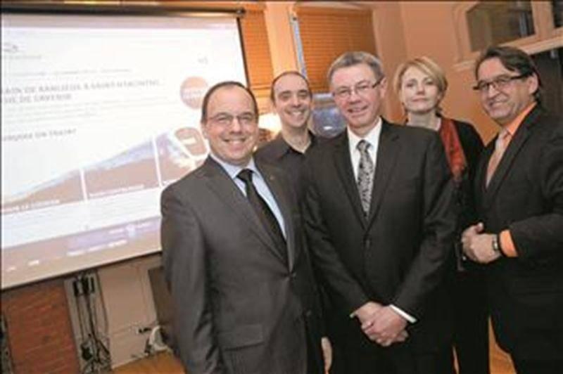 La Chambre de commerce et de l'industrie frappe un grand coup en janvier 2012 en lançant la campagne J'embarque dans le train. Photothèque   Le Courrier ©