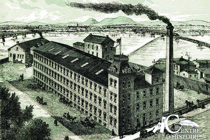 L'usine Louis Côté et Frère. Source : St-Hyacinthe illustré en 1886. Coll. Centre d'histoire de Saint-Hyacinthe.