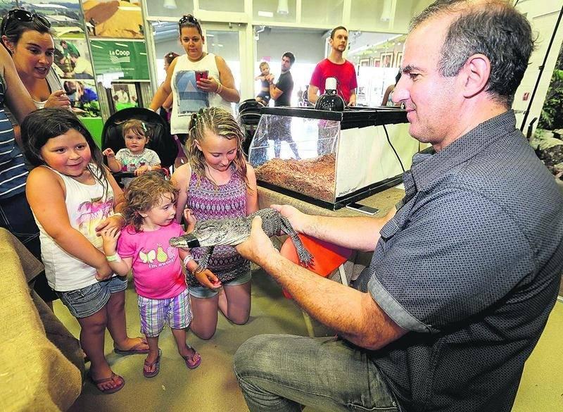 Le kiosque des reptiles qui était installé dans le pavillon La Coop a impressionné de nombreux visiteurs. Photo Robert Gosselin | Le Courrier ©