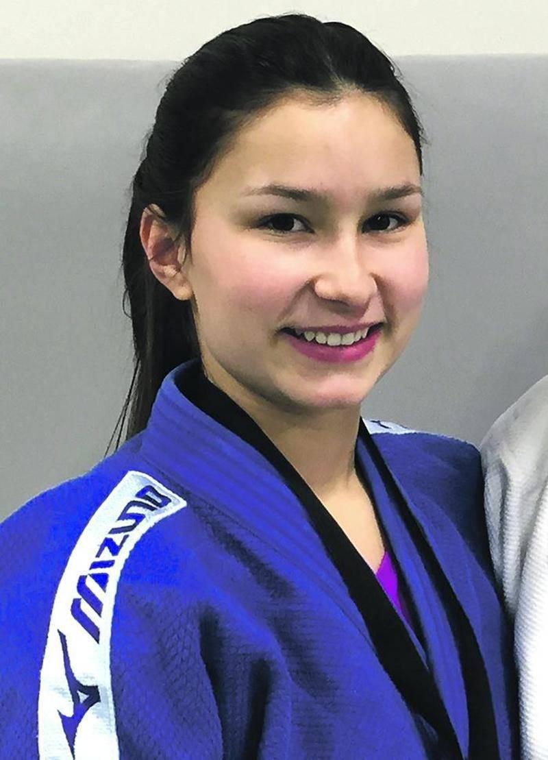 Audrey Poirier a été l'unique représentante maskoutaine à monter sur le podium.  Photo Courtoisie