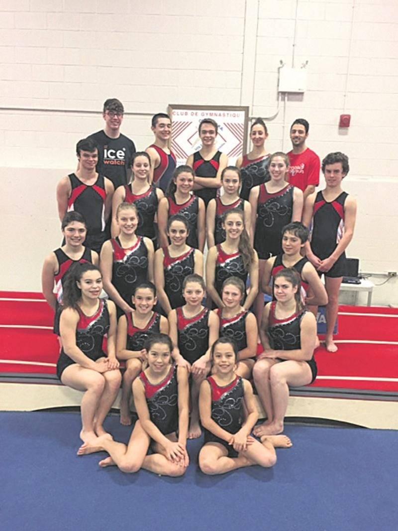 Les athlètes de Gymnaska-Voltigeurs seront en action tout au long de la fin de semaine à l'École Casavant. Photo Courtoisie