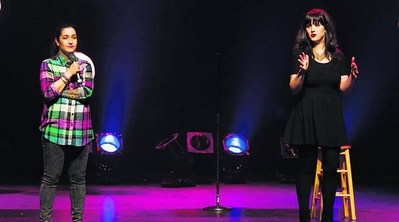 Mariana Mazza et Virginie Fortin unissent leurs forces et leurs faiblesses dans le cadre de leur premier spectacle intitulé Mazza/Fortin.Photo Éric Myre ©