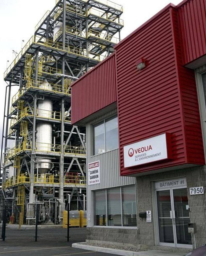 Un déversement s'est produit à l'usine Veolia de Saint-Hyacinthe le 25 novembre 2013.