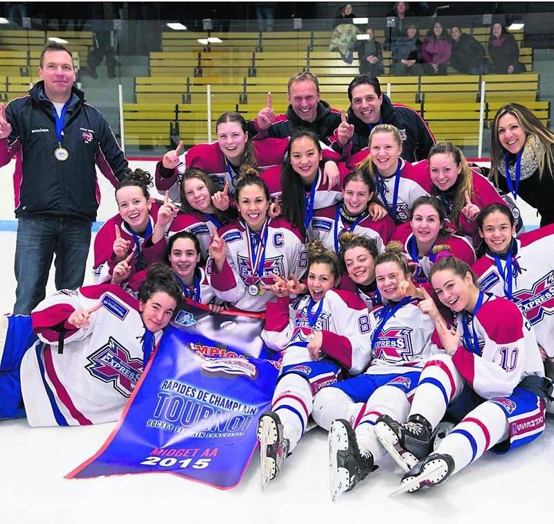 L'Express midget AA a remporté le week-end dernier le tournoi des Rapides de Champlain-Longueuil. Photo Courtoisie