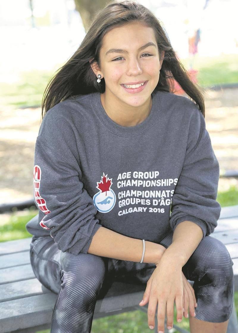 Perrine Bouchard a connu une saison du tonnerre en participant aux championnats provincial et canadien AAA par groupe d'âge en plus des Jeux du Québec. Photo Robert Gosselin | Le Courrier ©