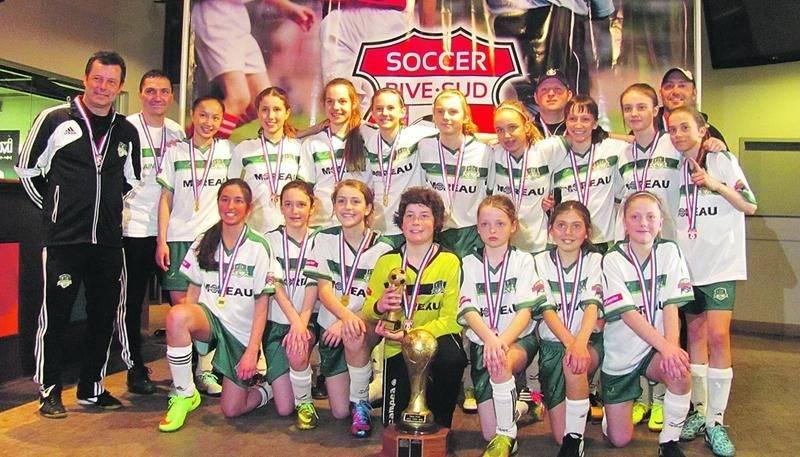 Le FC Saint-Hyacinthe U12 féminin AA.