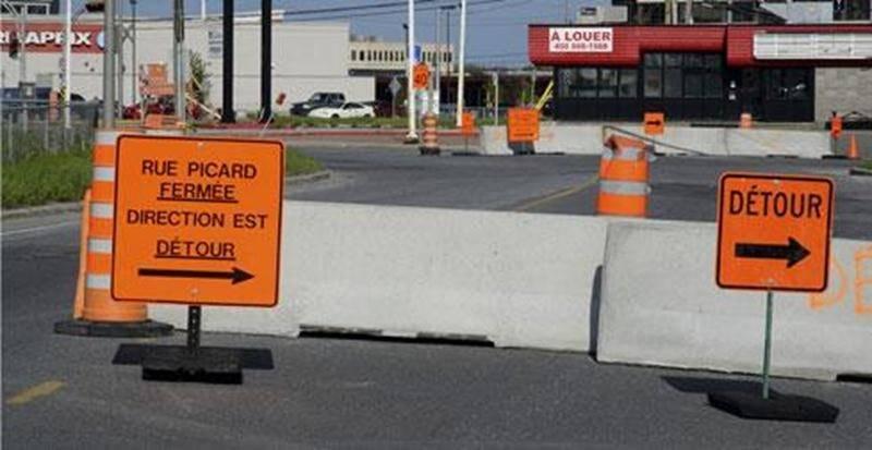 Une douzaine de commerçants ont été pris au dépourvu par la mise en place d'un détour sur la rue Picard visant à améliorer la circulation sur le boulevard Laframboise.