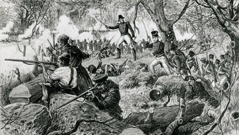 Bataille de Châteauguay, 1813 par Henri Julien. Le Journal de Dimanche. 24 juin 1884.