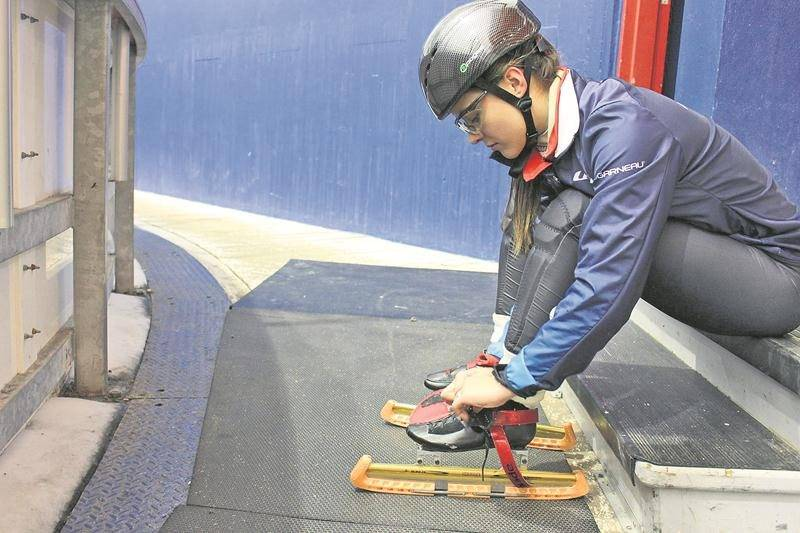 Rosemarie Charest participera aux sélections nationales de patinage de vitesse courte piste à Montréal du 13 au 15 janvier. Photo Courtoisie