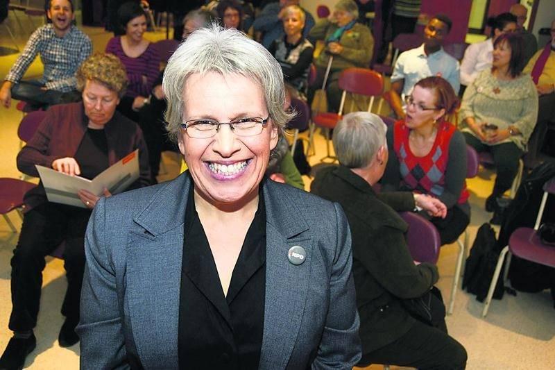 Brigitte Sansoucy défendra les couleurs du NPD aux prochaines élections fédérales.  Photo François Larivière   Le Courrier ©